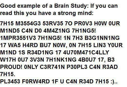Reading test illusion