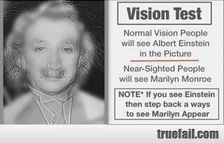 Optical Illusion - Einstein and Marilyn Monroe
