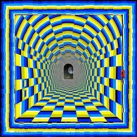 Amazing moving tunnel illusion